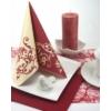 Kép 4/5 - Textilhatású szalvéta 40x40 cm Pomp - bordó/krém