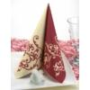 Kép 5/5 - Textilhatású szalvéta 40x40 cm Pomp - bordó/krém