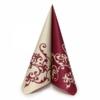 Kép 1/5 - Textilhatású szalvéta 40x40 cm Pomp - bordó/krém