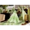 Kép 2/2 - Asztali futó 40 cm x 24 m textilhatású Ina - zöld