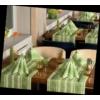 Kép 1/2 - Asztali futó 40 cm x 24 m textilhatású Ina - zöld