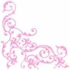 Kép 6/6 - Textilhatású szalvéta 40x40 cm Pomp - rózsa/fehér