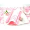 Kép 2/6 - Textilhatású szalvéta 40x40 cm Pomp - rózsa/fehér