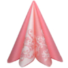 Kép 4/6 - Textilhatású szalvéta 40x40 cm Pomp - rózsa/fehér