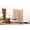 Kép 3/3 - Asztali futó 40 cm x 24 m textilhatású Vera - fehér/arany