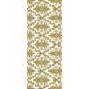 Kép 2/3 - Asztali futó 40 cm x 24 m textilhatású Vera - fehér/arany