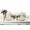 Kép 1/2 - Asztali futó 40 cm x 24 m textilhatású Carlo - pezsgő/világosbarna