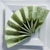 Kép 7/10 - Textilhatású szalvéta 40x40 cm Delia - zöld - 88310