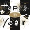 Kép 2/2 - Textilhatású Szilveszteri szalvéta 40x40 cm New Year - fekete