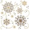 Kép 2/2 - Karácsonyi tissue szalvéta 3 rétegű 40x40 cm Cristal - barna/arany