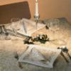 Kép 1/2 - Mikrotextil hatású szalvéta 40x40 cm Etoile - arany