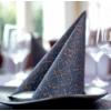 Kép 3/3 - Asztali futó 40 cm x 24 m textilhatású Claudio - sötétkék/barna