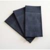 Kép 2/2 - Textilhatású 1/8 hajtású evőeszköztartós szalvéta 40x32 cm Gama Hilo - fekete