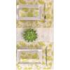 Kép 2/4 - Textilhatású szalvéta 40x40 cm Garden - zöld