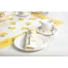 Kép 5/6 - Textilhatású szalvéta 40x40 cm Rosita - sárga