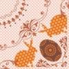 Kép 3/3 - Textilhatású szalvéta 40x40 cm Rabea - narancs