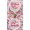 Kép 3/3 - Textilhatású szalvéta 40x40 cm Garden - rózsaszín