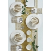 Kép 2/2 - Asztali futó 40 cm x 24 m textilhatású Royal Lace - arany