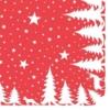 Kép 1/2 - Textilhatású szalvéta 40x40 cm Lennert - piros/fehér
