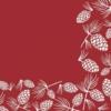 Kép 1/2 - Textilhatású szalvéta 40x40 cm Patrick - bordó