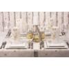 Kép 2/2 - Textilhatású szalvéta 40x40 cm Bruno - barna/arany