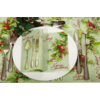 Kép 2/2 - Textilhatású szalvéta 40x40 cm Love & Joy - zöld