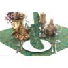 Kép 6/6 - Textilhatású szalvéta 40x40 cm Michael - zöld/arany - 90777
