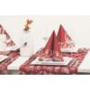 Kép 2/2 - Textilhatású szalvéta 40x40 cm Patrick - bordó
