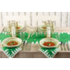 Kép 6/6 - Textilhatású szalvéta 40x40 cm Lennert - zöld/fehér - 92064