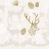 Kép 1/2 - Textilhatású szalvéta 40x40 cm Bruno - barna/arany