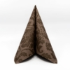 Kép 2/6 - Textilhatású szalvéta 40x40 cm Victoria - kakaó - p40-340