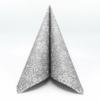 Kép 2/6 - Textilhatású szalvéta 40x40 cm Steven - ezüstszürke - 89004