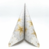 Kép 1/5 - Karácsonyi textilhatású szalvéta 40x40 cm Vivien - szürke/arany - 95215