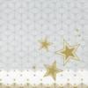Kép 5/5 - Karácsonyi textilhatású szalvéta 40x40 cm Vivien - szürke/arany - 95215