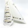 Kép 4/6 - Textilhatású szalvéta 40x40 cm San silvestro ezüst/fekete/arany - 89015