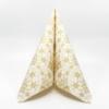 Kép 1/5 - Karácsonyi textilhatású szalvéta 40x40 cm Saphira - krém/arany - 95032