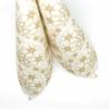 Kép 4/5 - Karácsonyi textilhatású szalvéta 40x40 cm Saphira - krém/arany - 95032