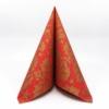 Kép 2/5 - Textilhatású szalvéta 40x40 cm Michael - piros/arany - 89012
