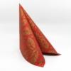 Kép 3/5 - Textilhatású szalvéta 40x40 cm Michael - piros/arany - 89012