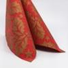 Kép 4/5 - Textilhatású szalvéta 40x40 cm Michael - piros/arany - 89012