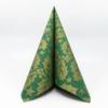 Kép 2/6 - Textilhatású szalvéta 40x40 cm Michael - zöld/arany - 90777