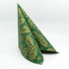 Kép 3/6 - Textilhatású szalvéta 40x40 cm Michael - zöld/arany - 90777