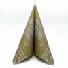 Kép 2/5 - Karácsonyi textilhatású szalvéta 40x40 cm Mick - arany - 95241