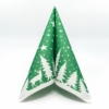 Kép 2/6 - Textilhatású szalvéta 40x40 cm Lennert - zöld/fehér - 92064
