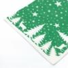 Kép 5/6 - Textilhatású szalvéta 40x40 cm Lennert - zöld/fehér - 92064