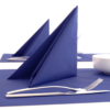 Kép 6/6 - Textilhatású szalvéta 40x40 cm egyszínű kék
