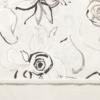 Kép 5/6 - Mikrotextil hatású szalvéta 40x40 cm Nancy fehér/fekete - 6403830