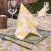Kép 3/4 - Textilhatású szalvéta 40x40 cm Garden - zöld