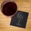 Kép 1/4 - Koktélszalvéta 25x25 cm Wine - fekete - V254F4151571A
