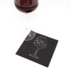 Kép 3/4 - Koktélszalvéta 25x25 cm Wine - fekete - V254F4151571A